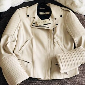 Burberry Nightingale Leather Moto Jacket. NWT
